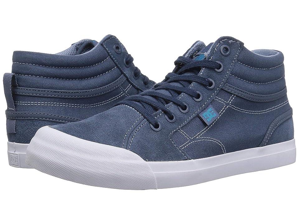 DC Kids Evan Hi (Little Kid/Big Kid) (Blue/Blue/Blue) Boys Shoes