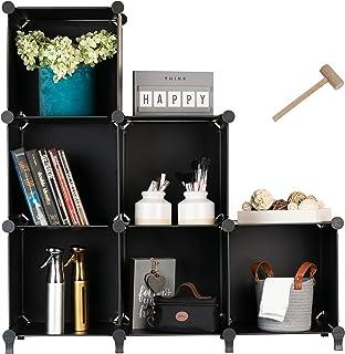 Homeries Cube Storage System – Modular DIY 6-Cube Plastic Closet Organizer Rack, Storage Shelves, Bookshelf, Bookcase for ...
