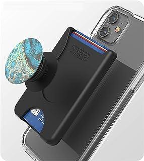 محفظة هاتف خلوي مغلف ، نظام 4 بطاقات (قبضة البوب متوافقة) تحمل بشكل آمن بطاقات الهوية التجارية وبطاقات الائتمان - حامل لاص...