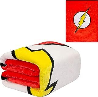 JPI Plush Throw Blanket - The Flash Logo - Twin Bed 60