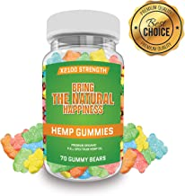 Ease Naturals 70ct Hemp Gummies - for Pain Relief and Anti-Anxiety Support :: All-Natural Ingredients :: Promotes Relaxation & General Good Health :: 30MG Per Gummy – Made in USA