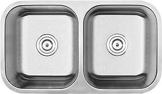 "Phoenix 31-1/8"" 不锈钢底托 18 号双等碗厨房水槽"