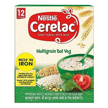 Nestlé Cerelac Infant Cereal Stage-4 (12 Months-24 Months) Multi Grain Dal Vegetable - 300g