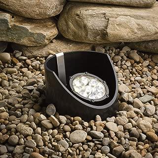 Kichler Lighting 15757BKT LED Well Light 9-Light Low Voltage 35 Degree Medium Spread Light, Textured Black with Clear Tempered Glass Lens