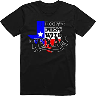 INKtastictees Don't Mess with Texas - TX State Flag Colors Blue, White & Red - Funny Texan Lone Star Classic American T-Shirt