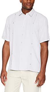 Cubavera Men's Short Sleeve Cuban Camp Shirt with...