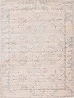 Traditional Vintage Persian Inspired Overdyed Fancy Design Rugs - Beige, 12' x 16'-Feet Restoration Collection Area Rug