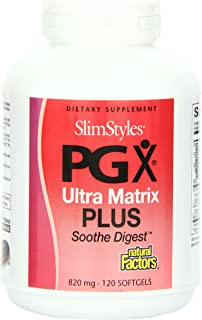 Natural Factors Slimstyles PGX Ultra Matrix Plus Soothe Digest, 820 mg, Softgels, 120-Count