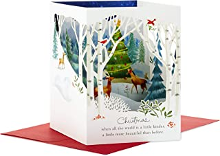 Hallmark Paper Wonder Pop Up Holiday Card (Woodland Animals Pop Up)