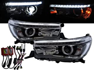 CABI AN120/AN130 Hilux Revo 2015 present Eighth generation - Pickup 2D/4D LED Bar Projector Headlight Headlamp for TOYOTA LHD