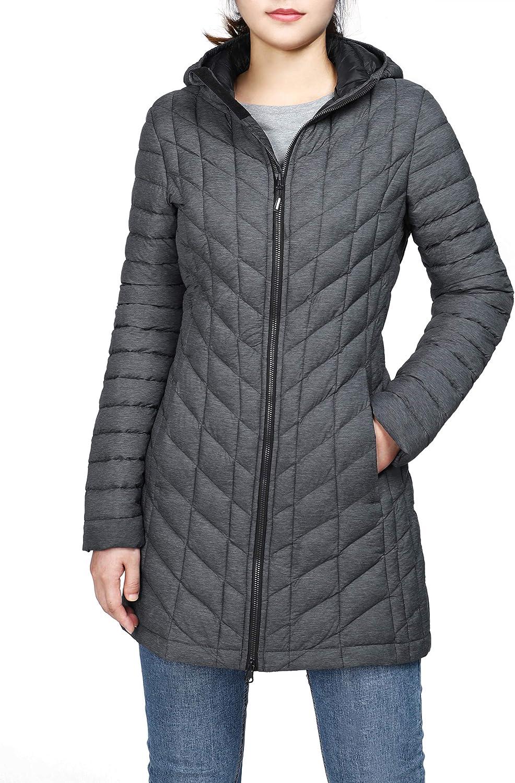 Outdoor Ventures Women's Maryan Hooded Ultra Lightweight Warm Thermolite Long Puffer Coat