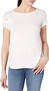 X by Gottex Womens XGS-246T Shoulder Lace Up Tee Shirt