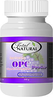 Isotonic OPC Powder 3 Month Supply Supplement, 300g [2 Bottles] by Total Natural, Maximum Strength Grapeseed, Antioxidants, Liver Care, GMP Premium Ingredients