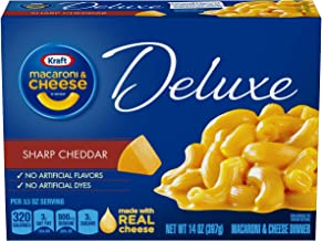 Kraft Sharp Cheddar Macaroni & Cheese Deluxe Dinner (14 oz Boxes, Pack of 12)