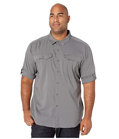 Columbia Big and Tall Silver Ridge Lite Long Sleeve Shirt (City Grey) Men