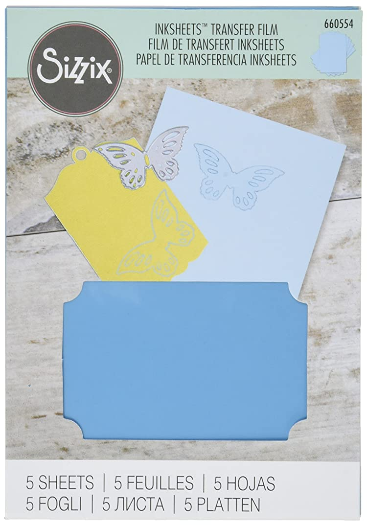Sizzix Inksheets 4-Inch by 6-Inch Transfer Film, 5 Light Blue Sheets