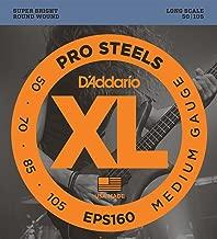 D'Addario EPS160 ProSteels Bass Guitar Strings, Medium, 50-105, Long Scale