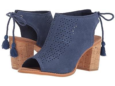 TOMS Elba (Cadet Blue Suede/Mosaic Tile) High Heels