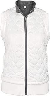 Green 3 Artisans Women's Quilted Reversible Zip Front Vest