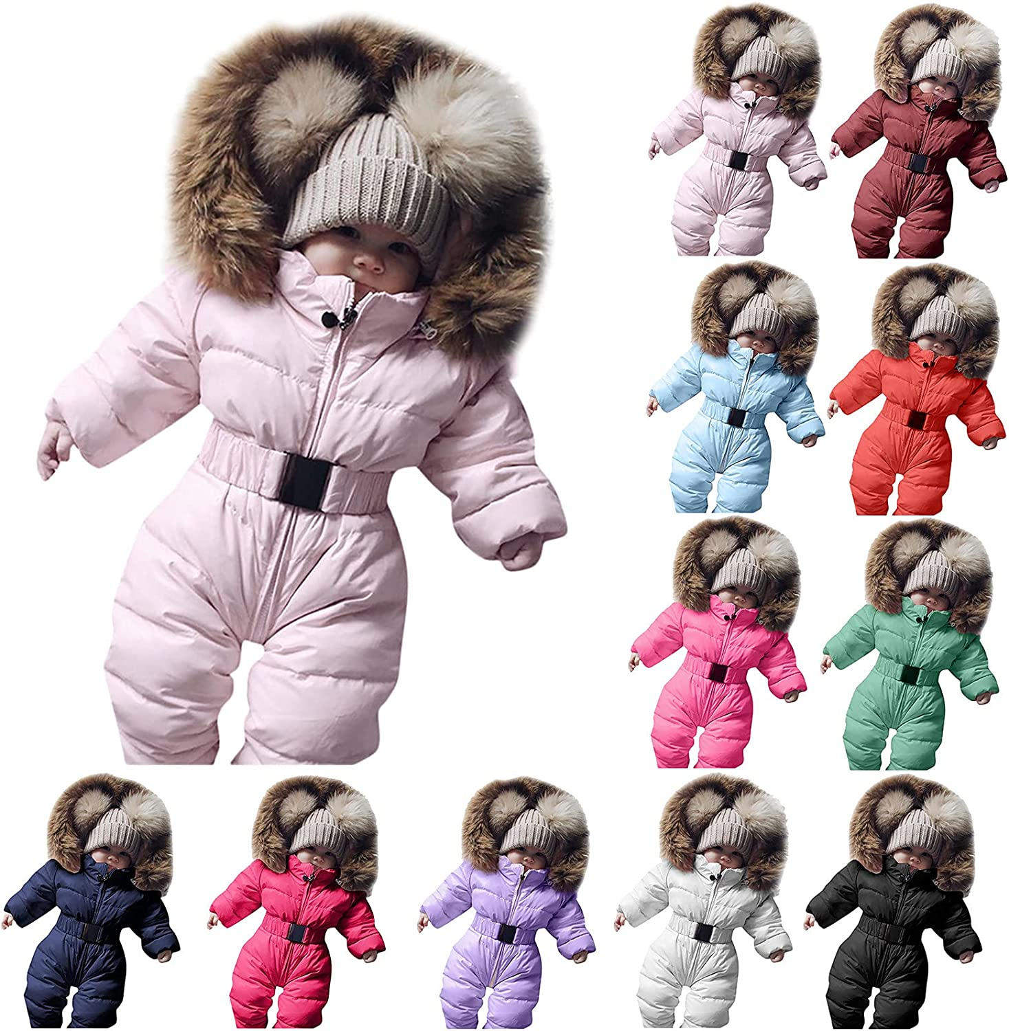 Infant Girls Max 79% OFF Denver Mall Boys Coat Long Sleeves Warm Winter Down Windproof Z