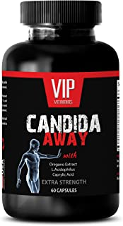 Natural detoxification Supplement - Candida Away Extra Strength Formula - Natural Solution - Digestive AID - Candida Vitam...