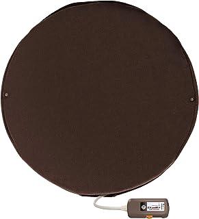 日立 丸型ホットマルチクッション 直径約63cm厚み約4cm ふんわりマイクロファイバー素材 温度5段階切替コントローラー付き カバー丸洗い可 HLU-MC100