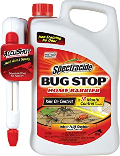 Spectracide Bug Stop Home Barrier, AccuShot Sprayer, 1.33-Gallon, 4-Pack