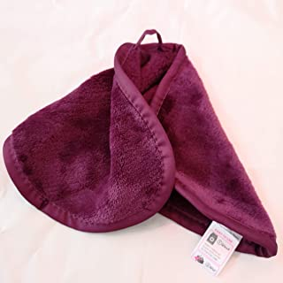 Makeup Remover Face Cleansing Cloth - Chemical-free Microfiber Reusable Facial Clean Towel, Remove Makeup Instantly with Only Water (1 Burgundy)