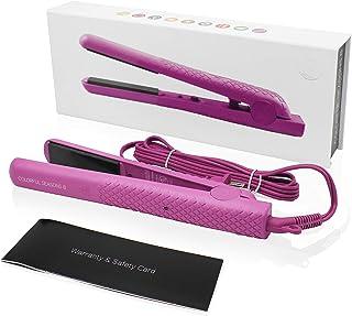 سرامیک آهن فصلی فصول سال Herstyler | صاف کننده دو اینچ ولتاژ 1 اینچ | فناوری یون منفی | آهن تخت برای بافت مو با دمای قابل تنظیم | موهای زیبا با طراحی | (رنگ صورتی)