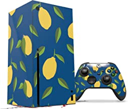 WraptorSkinz Skin Wrap compatible with the 2020 XBOX Series X Console and Controller Lemon Leaves Dark (XBOX NOT INCLUDED)