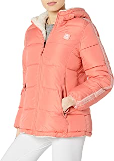 Reebok Womens Puffer Jacket Down Alternative Coat