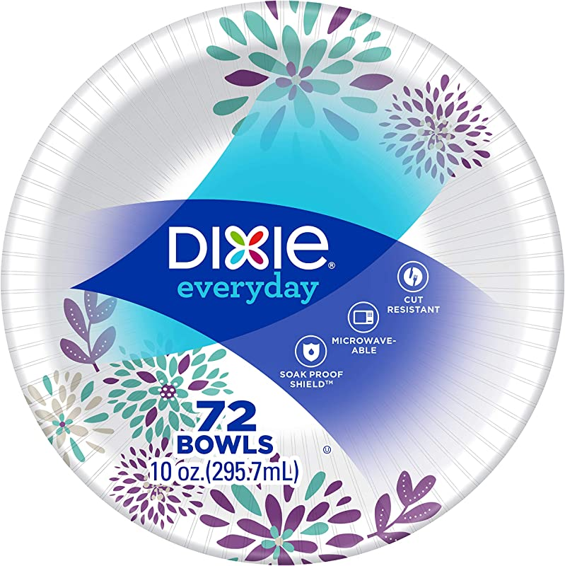 Dixie Exeryday Heavy Duty Paper Bowls 72 Count 10 Ounce Pack Of 1