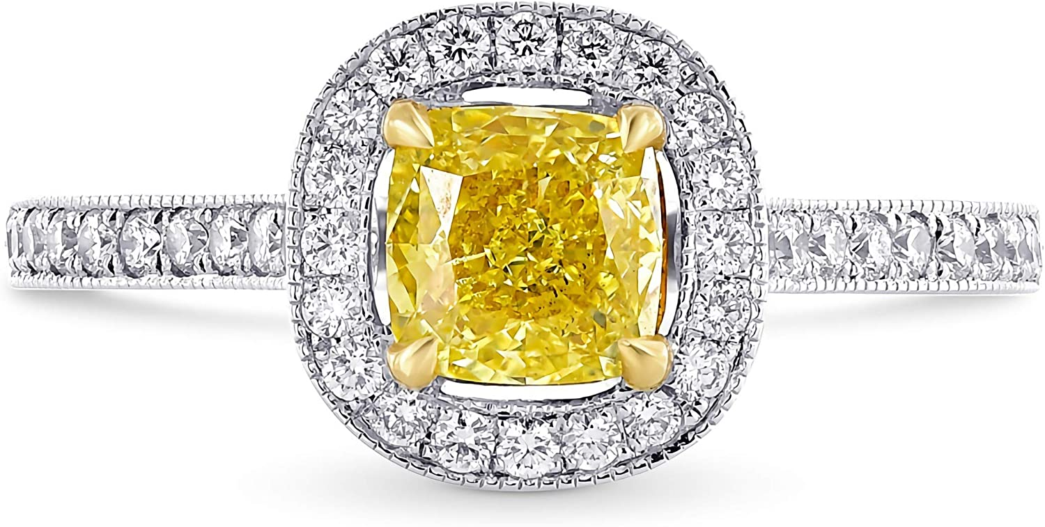 1.24 Cheap mail order specialty store New Free Shipping Carat ctw Yellow Moissanite women engagement - rings for