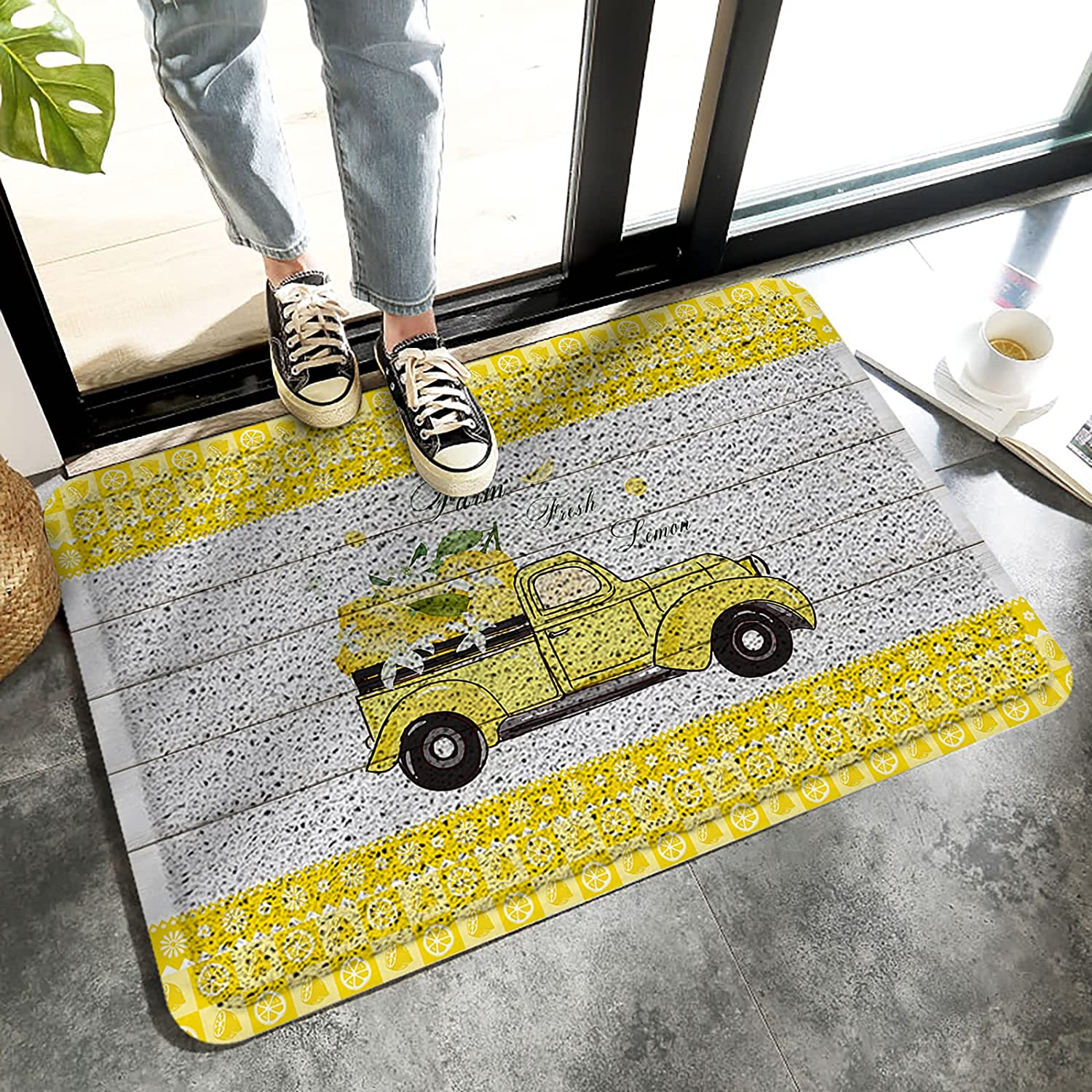 Front Door Welcome Mat Non-Slip In a popularity Heavy Entrance Duty P Summer Rug Super-cheap