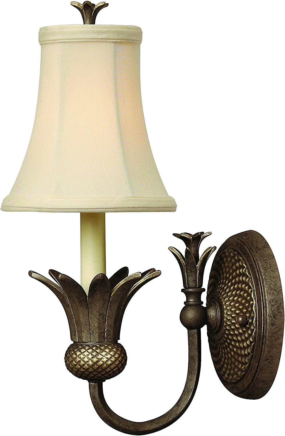 Hinkley 4880PZ Leaf, Flower, Fruit One Light Wall Sconce from Plantation collection in Bronze Darkfinish,