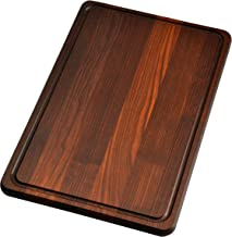 Cutting Board 18 x 12 x 0.8 in Edge Grain Chopping Block with Juice Groove Thermo Ash-tree Wood Hardwood Extra Thick Servi...