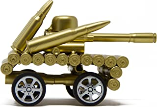 Vintage Tank Decor - Bullet Shell Casing Military Tank with Functional Wheels - Model : Tank - Pendant Toys for Photo Props, Christmas Tree Ornament, Desktop Decoration & More