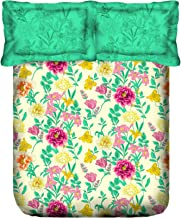 Portico New York Marvella 144 TC Cotton Bedsheet with 2 Pillow Covers - Floral, Bed Linen Queen Size, 8044281 -Multicolor