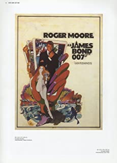 James Bond 007 2002 Vintage Live & LET DIE UNUSED Art Mini Poster Lithograph