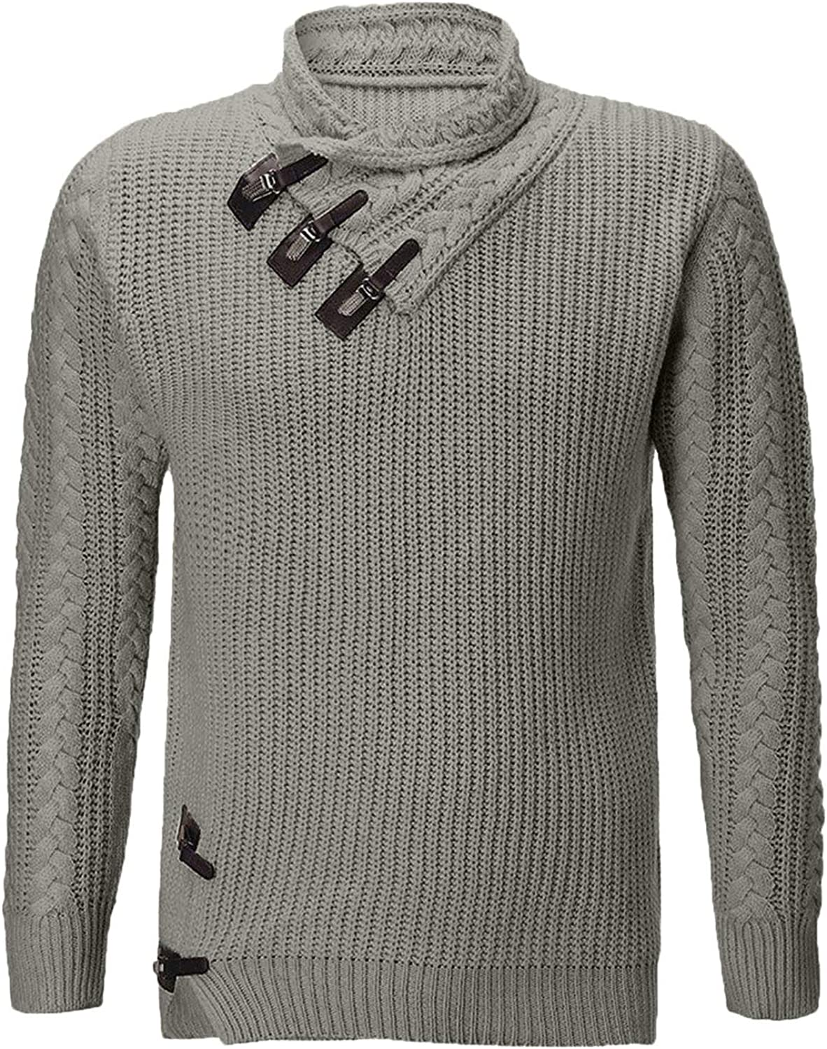 Men's Novelty Fashion Sweaters High Sleeve Max 75% OFF NEW before selling Pullover Long Neck Fi