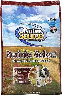 Nutrisource Grain Free Prairie Select With Quail Dog Food 30Lb