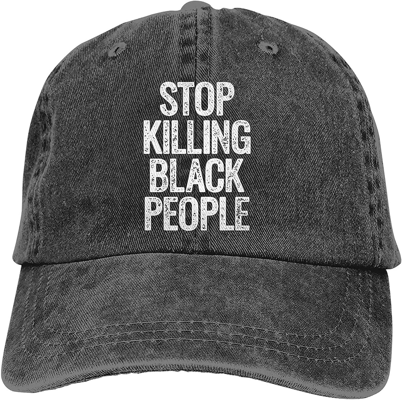 BGWORZD Stop Killing Black People 1 Adjustable Washed Dad Hat Cowboy Cap Denim Cap Baseball Cap