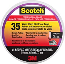Scotch #35 Vinyl Electrical Tape, 11271-BA-5, 3/4 in x 66 ft x 0.007 in, Violet