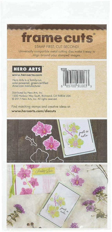 Hero Arts Luggage Tag Alphabet Frame Paper Cutting Dies