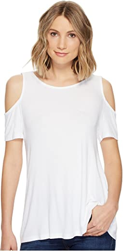 Michael Stars - 2X1 Rib Cold Shoulder Top