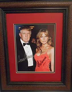 President Trump and Melania autographs