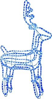 Star 105 x 60 cm 3D Rope Light Silhouette Reindeer Standing with 432 Blue LED