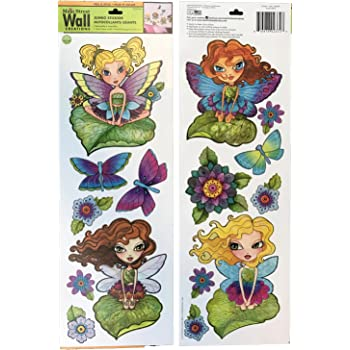 Amazon Com Main Street Wall Creations Jumbo Stickers Fairies And Butterflies Home Kitchen