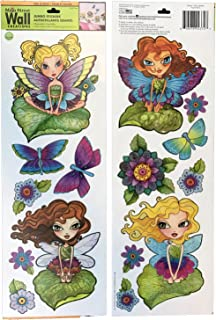 Main Street Wall Creations Jumbo Stickers (Fairies and Butterflies)