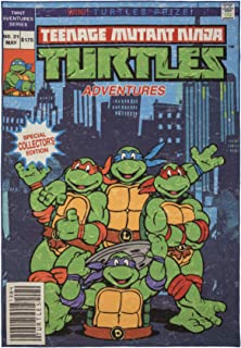 Gertmenian Nickelodeon Ninja Turtles Rug TMNT Carpet, 5x7 Large, Blue